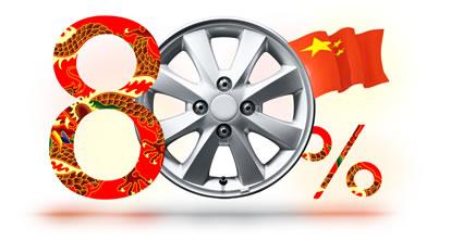 70-80% всех колесных дисков провизводится в Китае